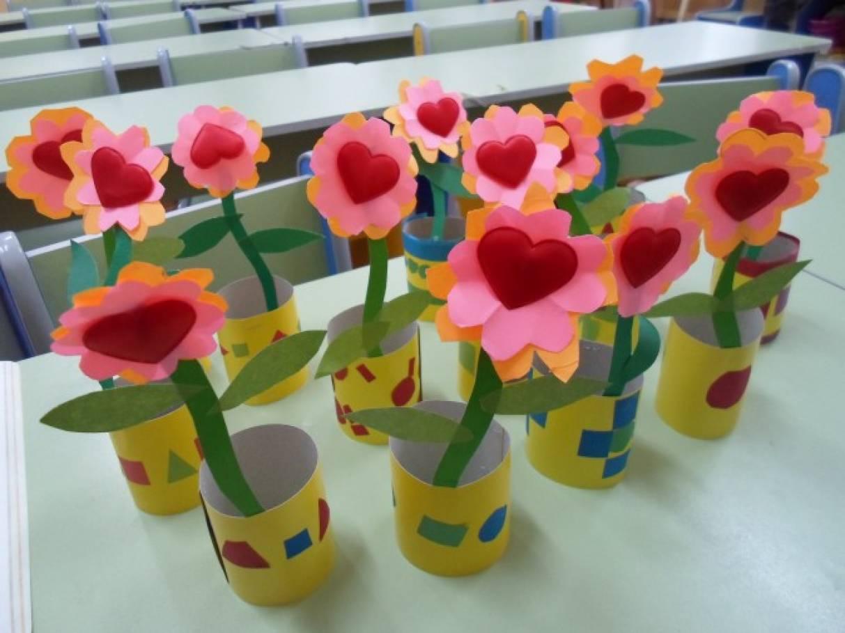 Поделки в садики цветы 524