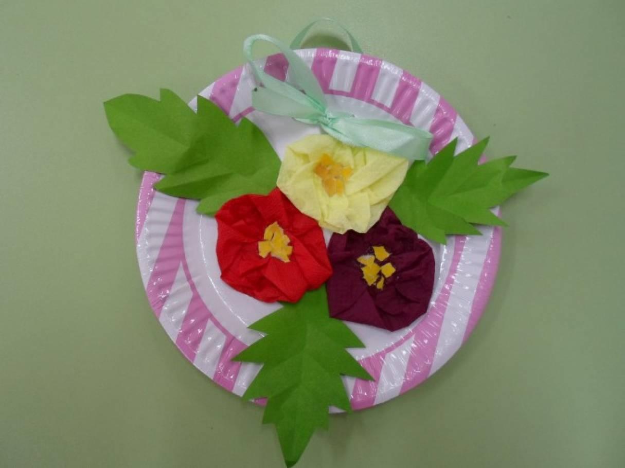 Мастер-класс. Подарок для любимых мам «Весенний букет нежной примулы»