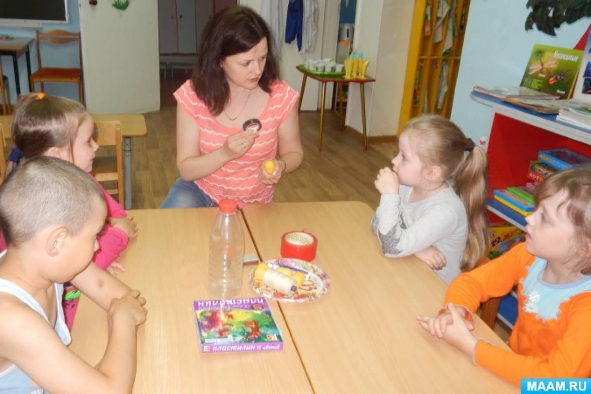 Мастер-класс по изготовлению поделки из капсул от киндер-сюрпризов «Весёлые пчёлки» для детей старшего дошкольного возраста