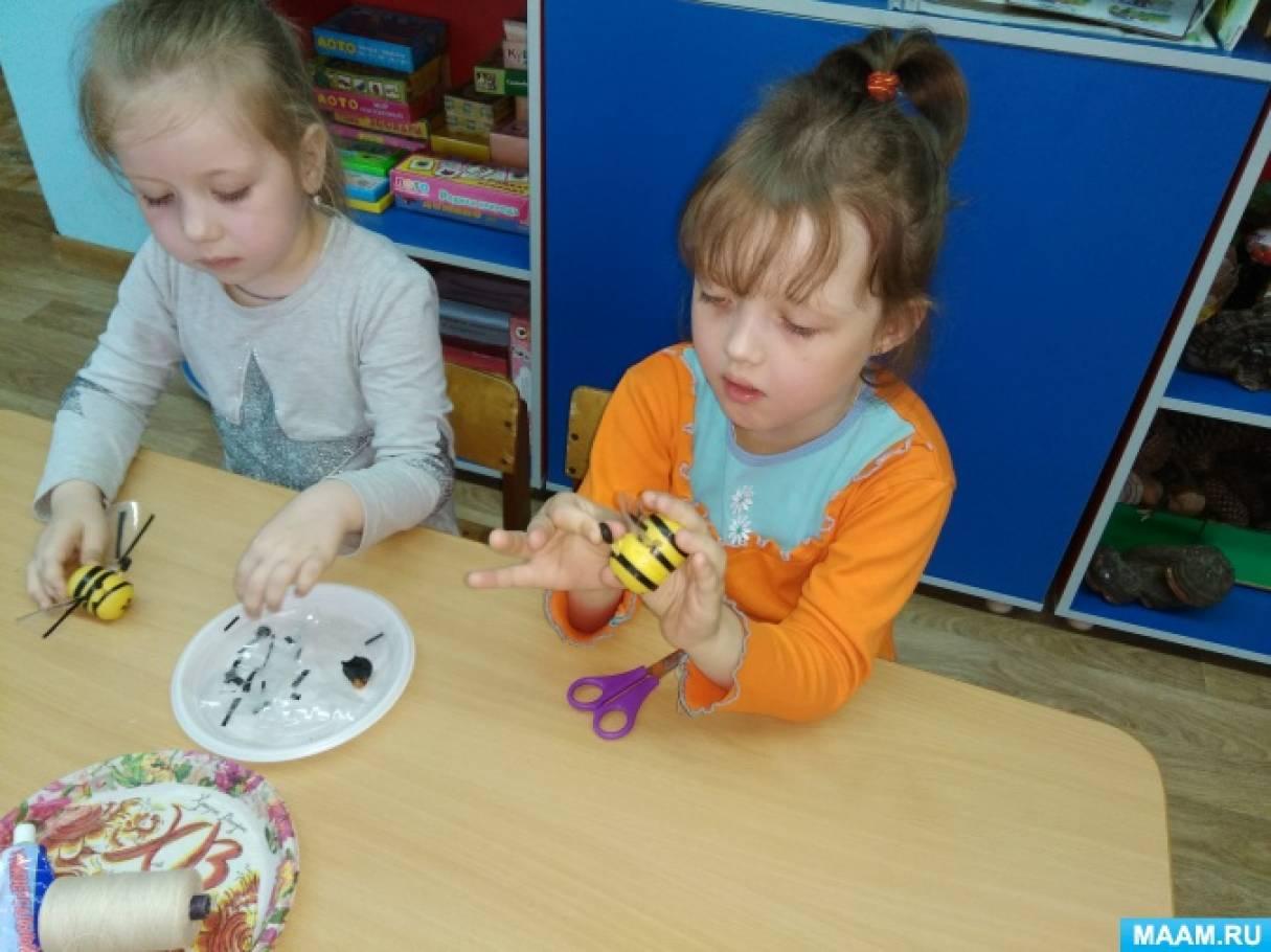 Пчелка из киндер сюрприза и пластилина своими руками. Мастер-класс с пошаговыми фото
