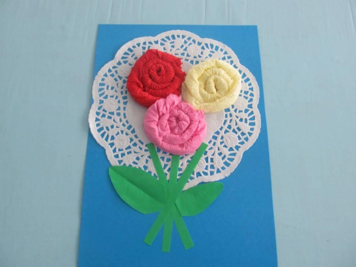 ясения сама открытка на 8 марта своими руками цветы из салфетки том