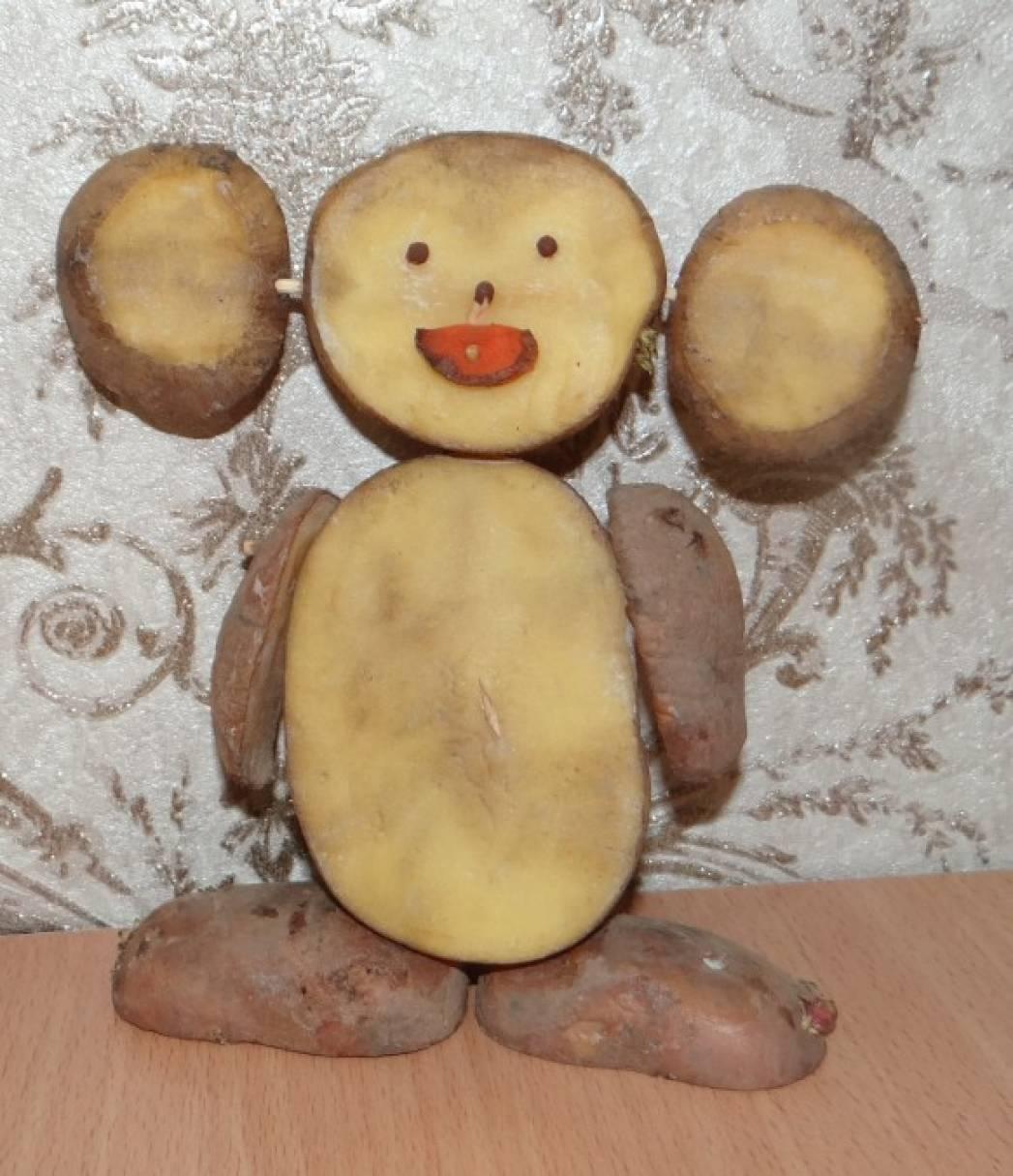 Поделки для сада из картошки 9