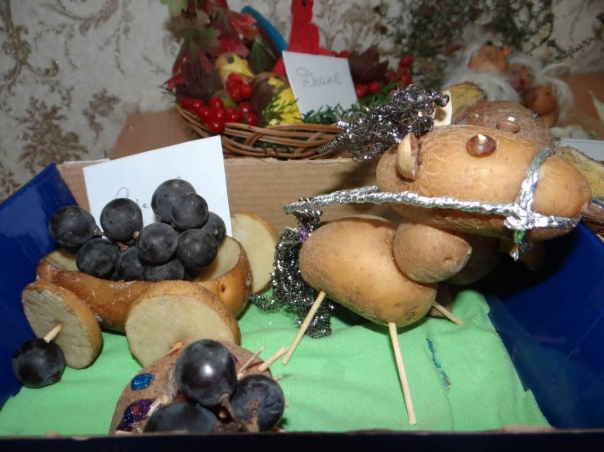 Поделки из овощей и картошки 71