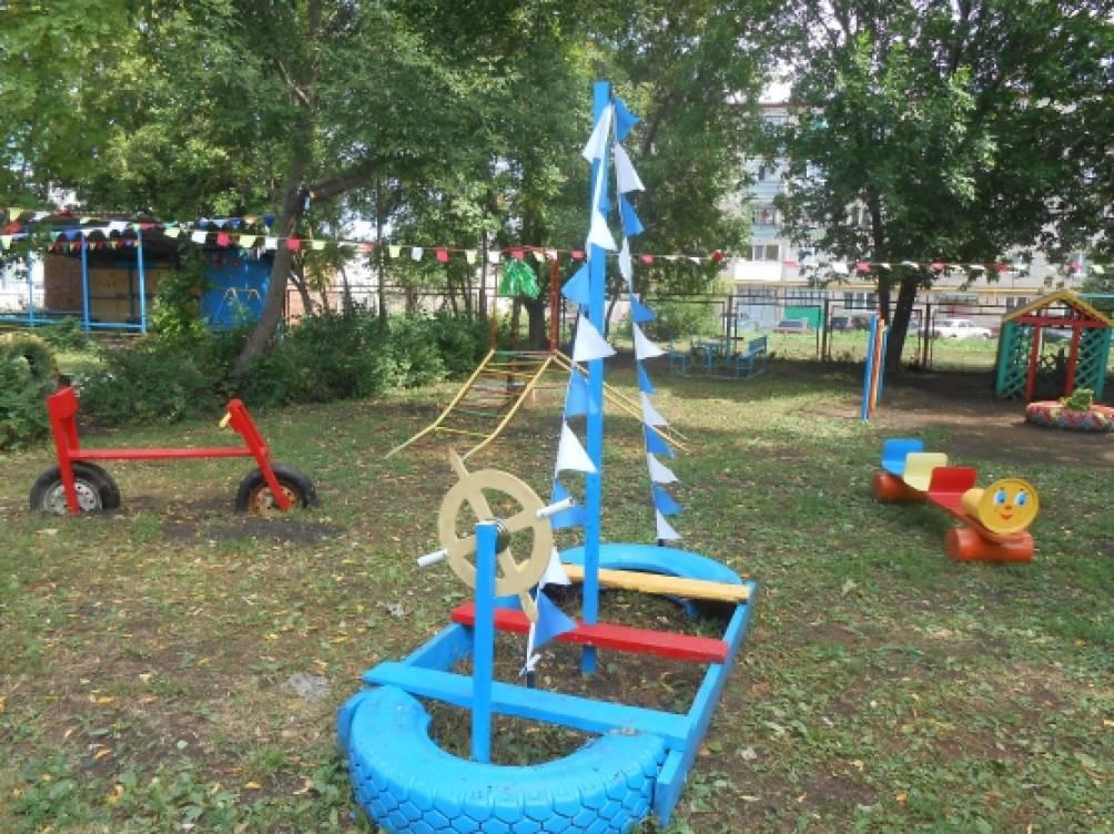 Участок в детском саду своими руками летом