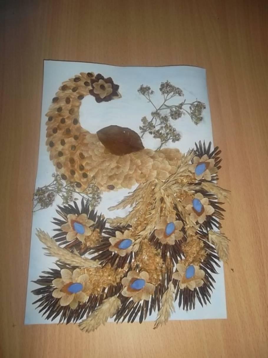Жар-птица своими руками из природных материалов 784