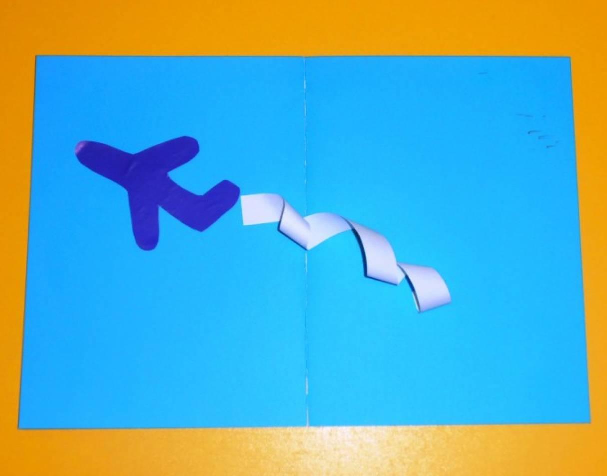 Фотоотчет аппликация самолет