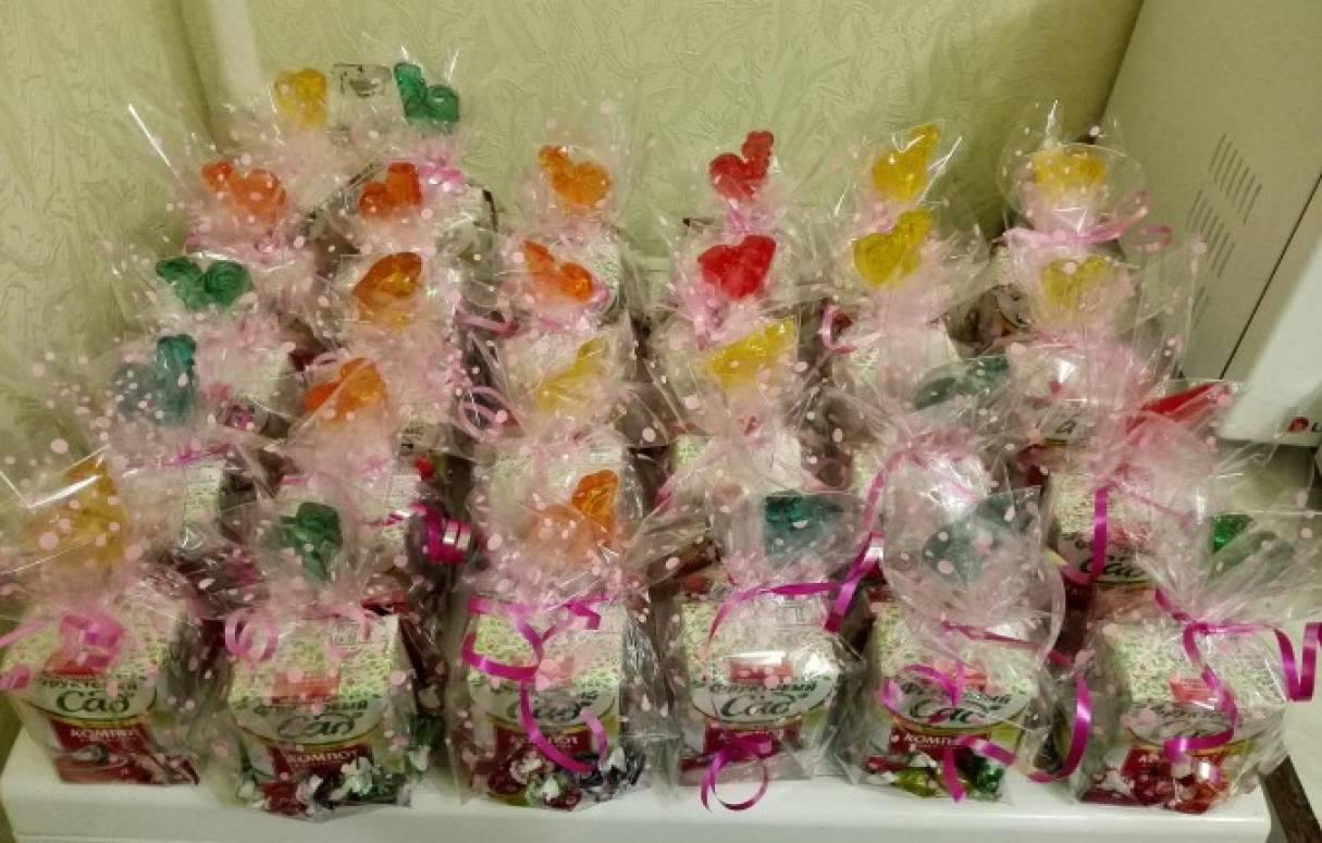 Упаковка подарков для сладкого стола в честь Дня рождения