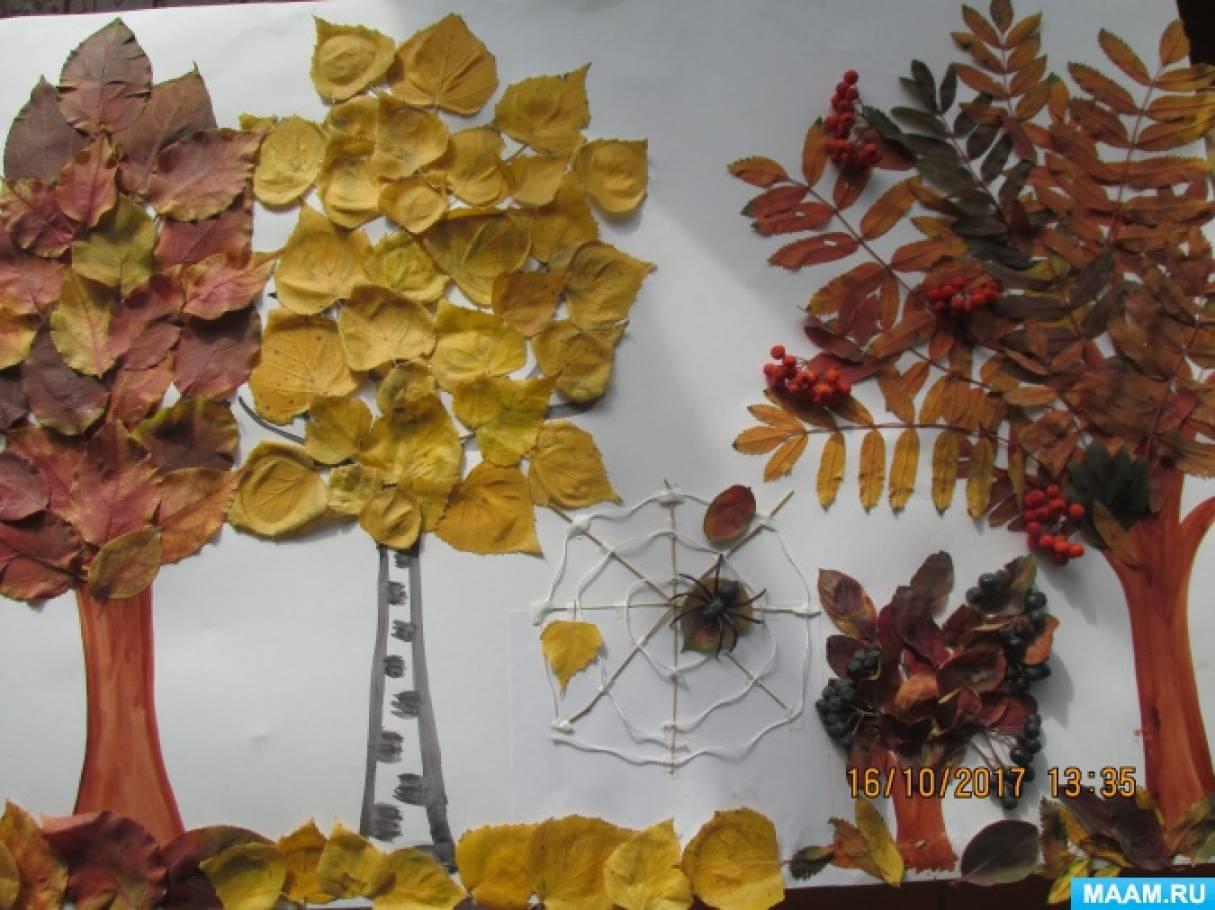 «Красота осени!» Коллективная аппликация из листьев