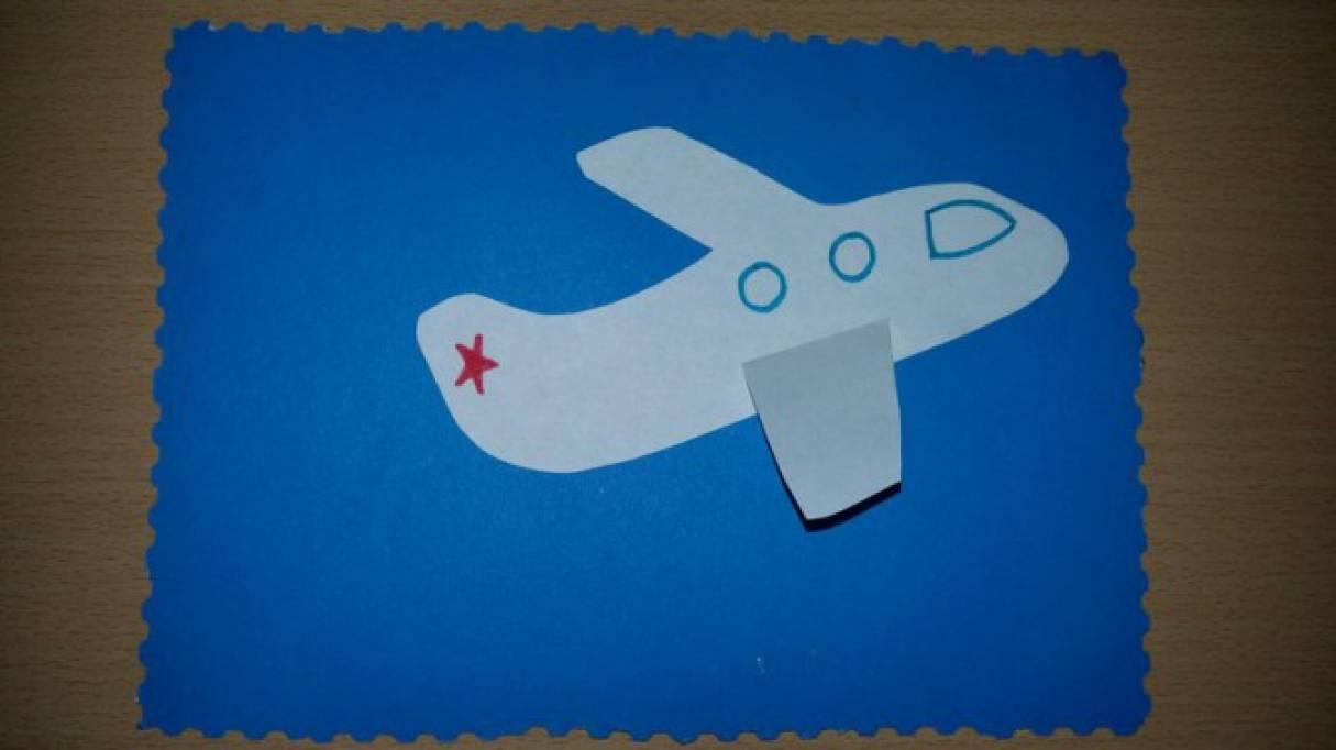 специалисты осуществляют открытка аппликация самолет в небе дни летели
