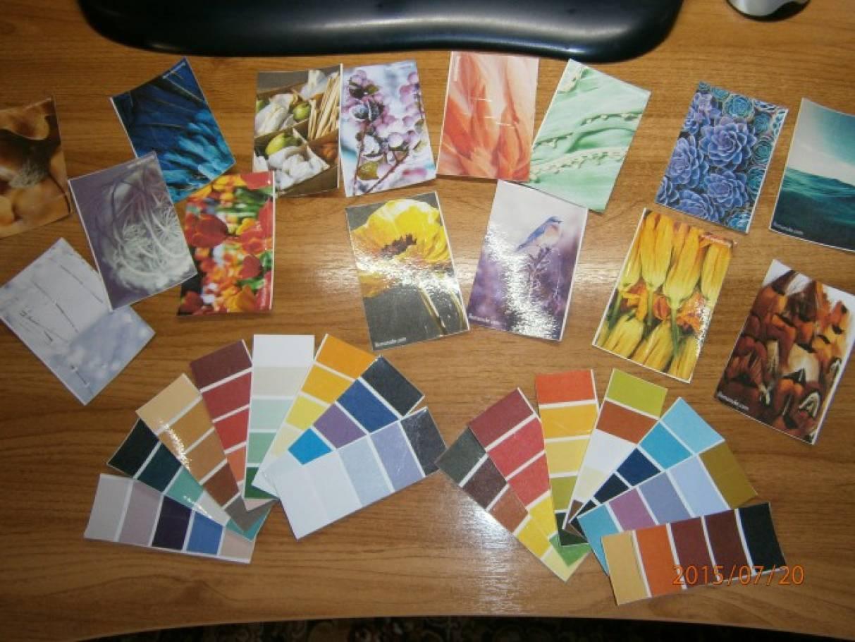 Использование в работе по изобразительному творчеству карточек цветовых оттенков. Игра по типу «Подбери цвет»