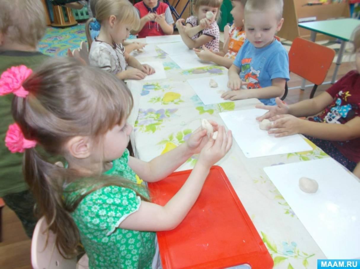 знакомство детей с солным тестом конспект