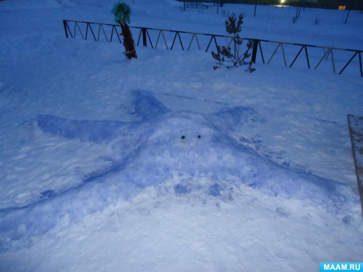 Оформление участка зимой «Фигуры и поделки из снега и льда»