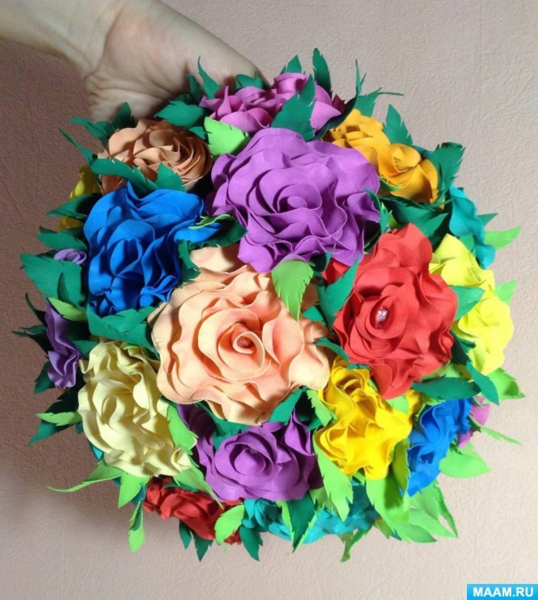 Мастер-класс по изготовлению сюрпризной поделки «Цветочный шар»
