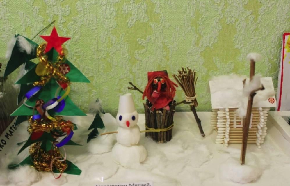 Новогодняя сказка - поделки из бумаги, ваты и подручных