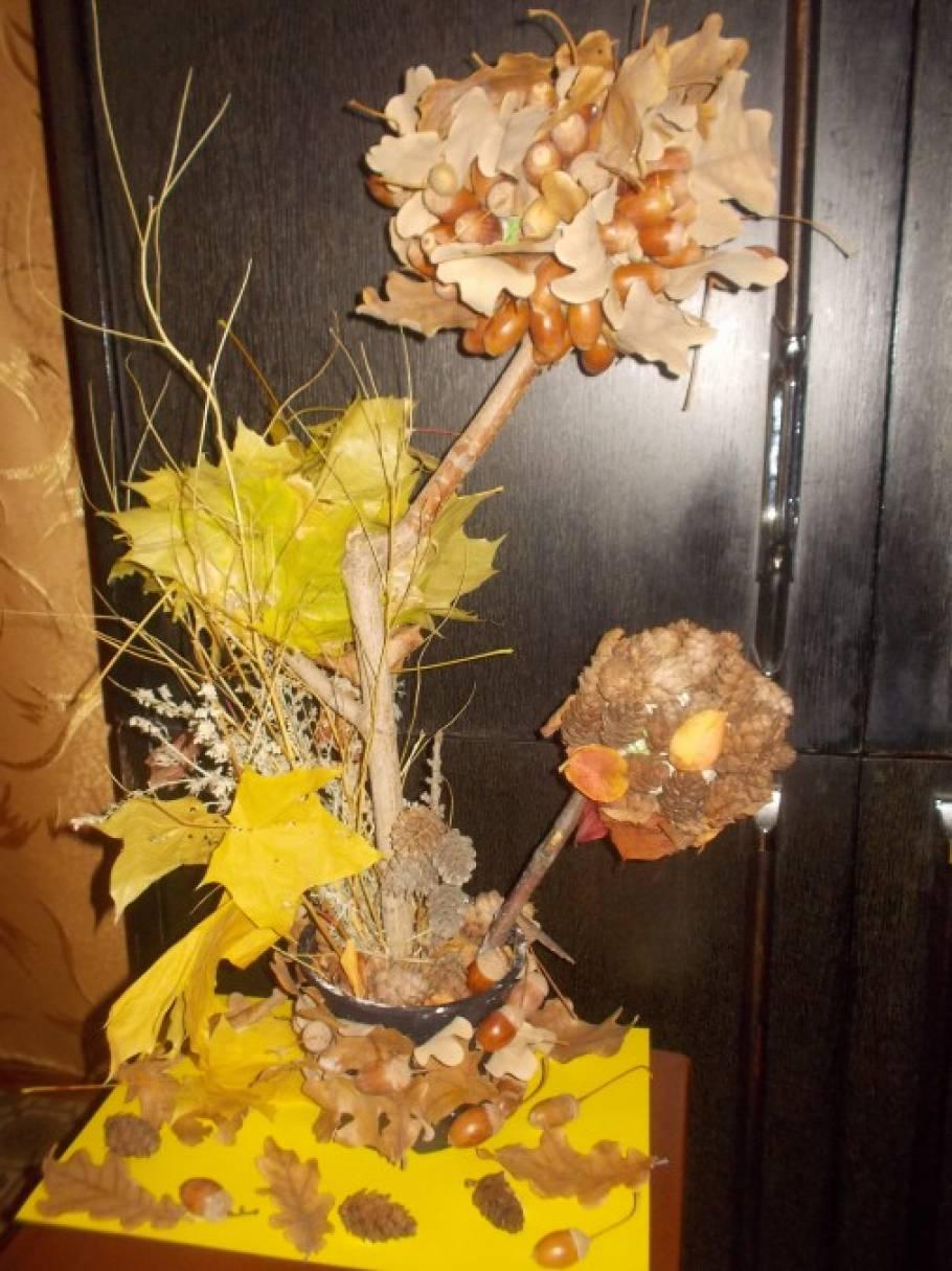 Поделка из природного материала на тему осень дерево 69