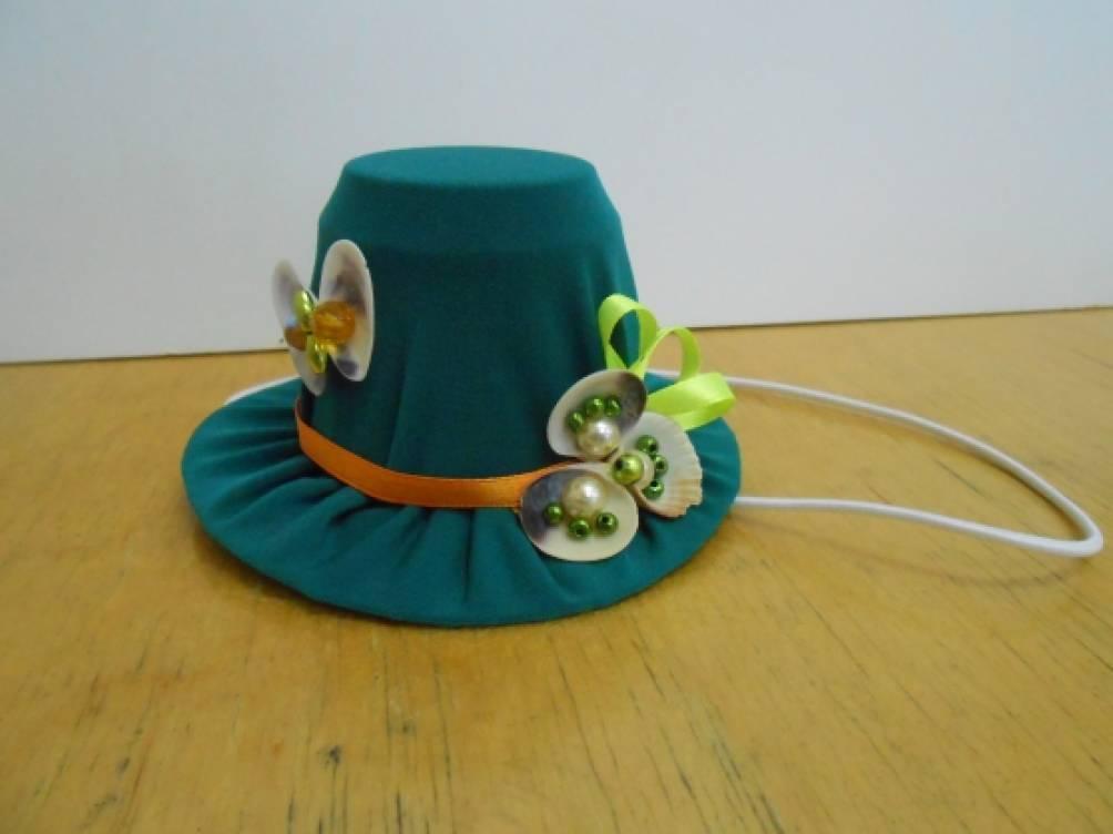 Шляпа из бросового материала своими руками