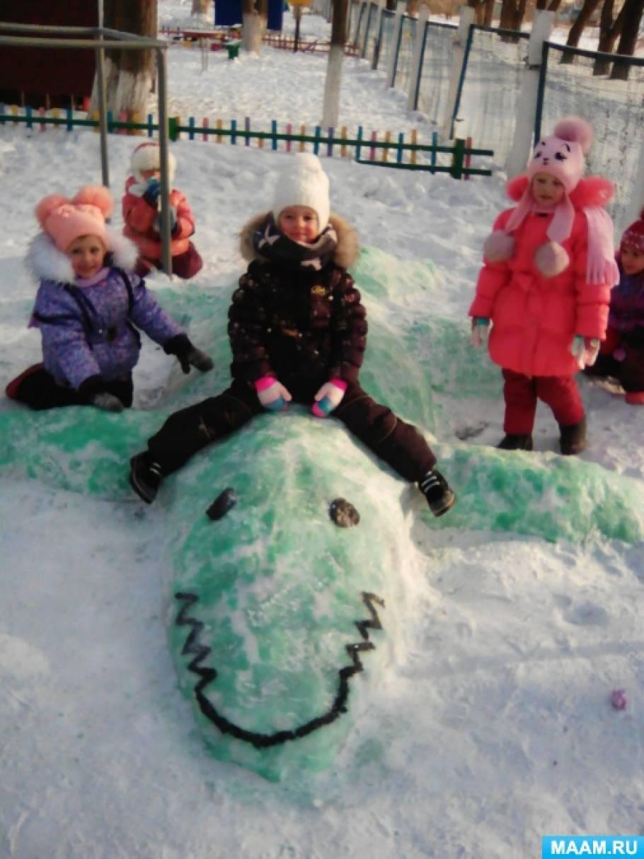 Зимние забавы на участке