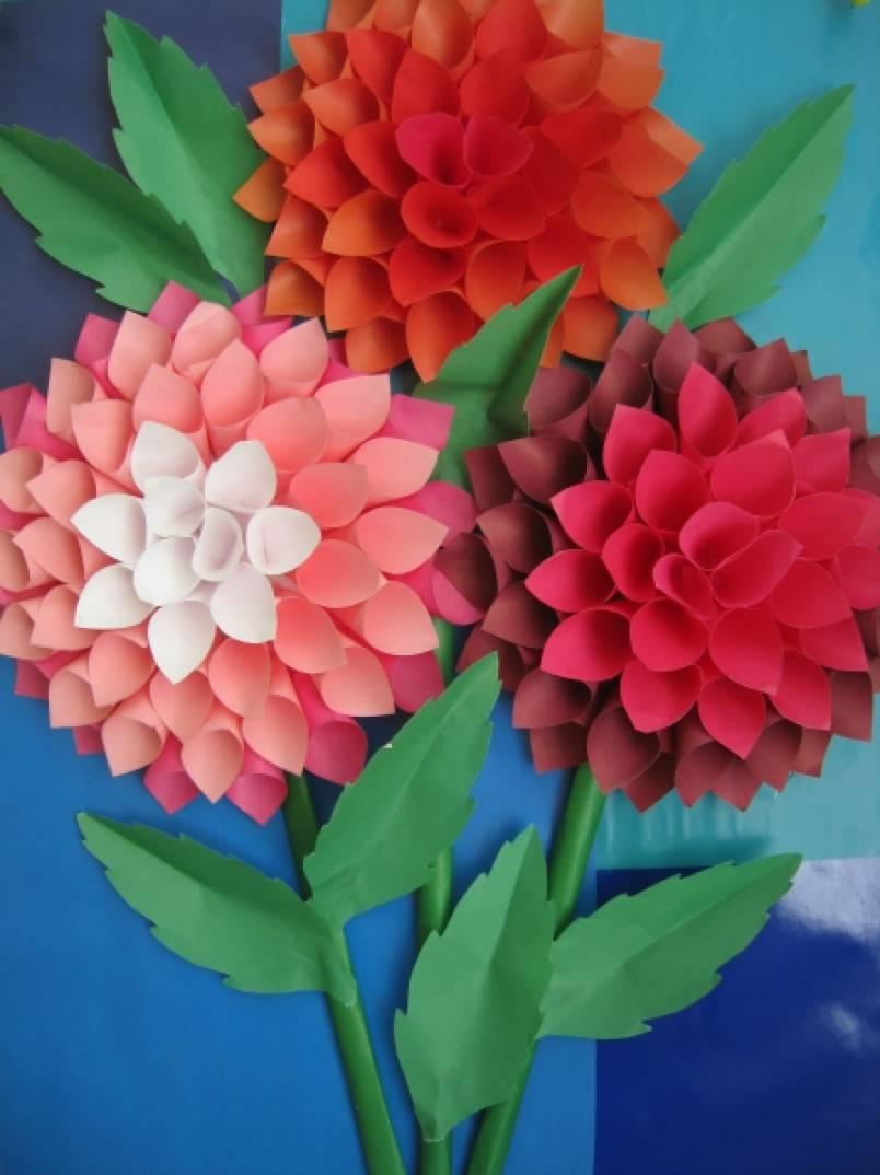 Цветы георгины своими руками