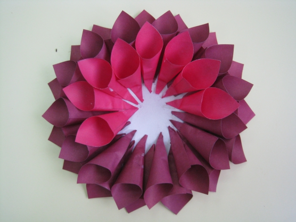 Поделки цветы георгины из бумаги своими руками поэтапно 91
