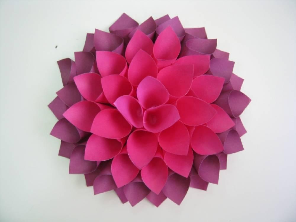 Поделки цветы георгины из бумаги своими руками поэтапно 83