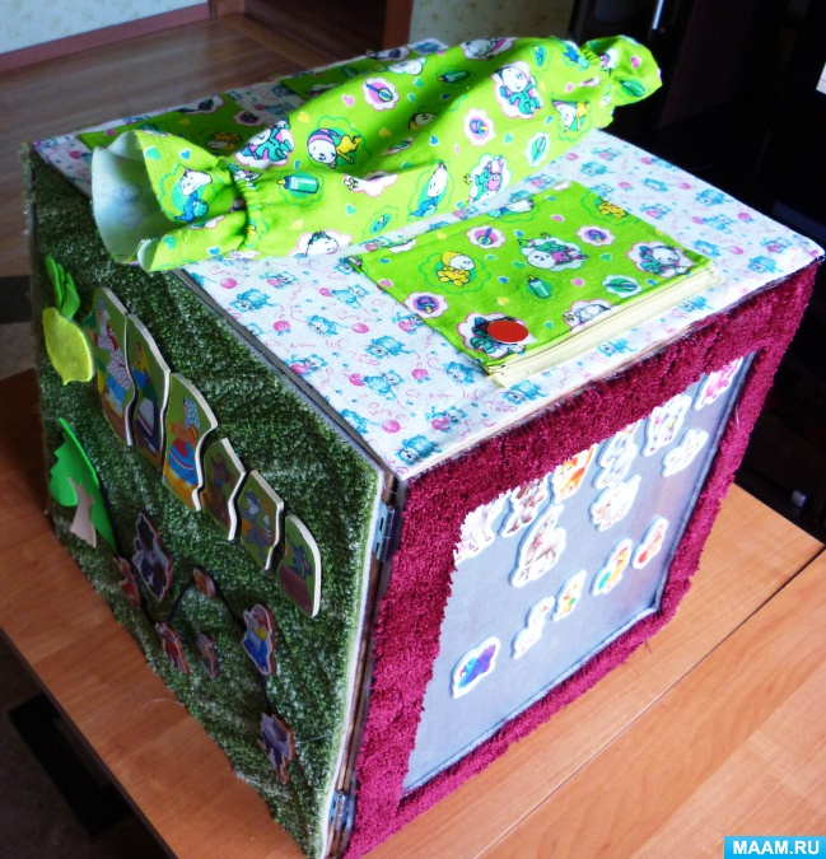 Дидактическое пособие «Волшебный куб». Полифункциональная игра из ковролина— коврограф