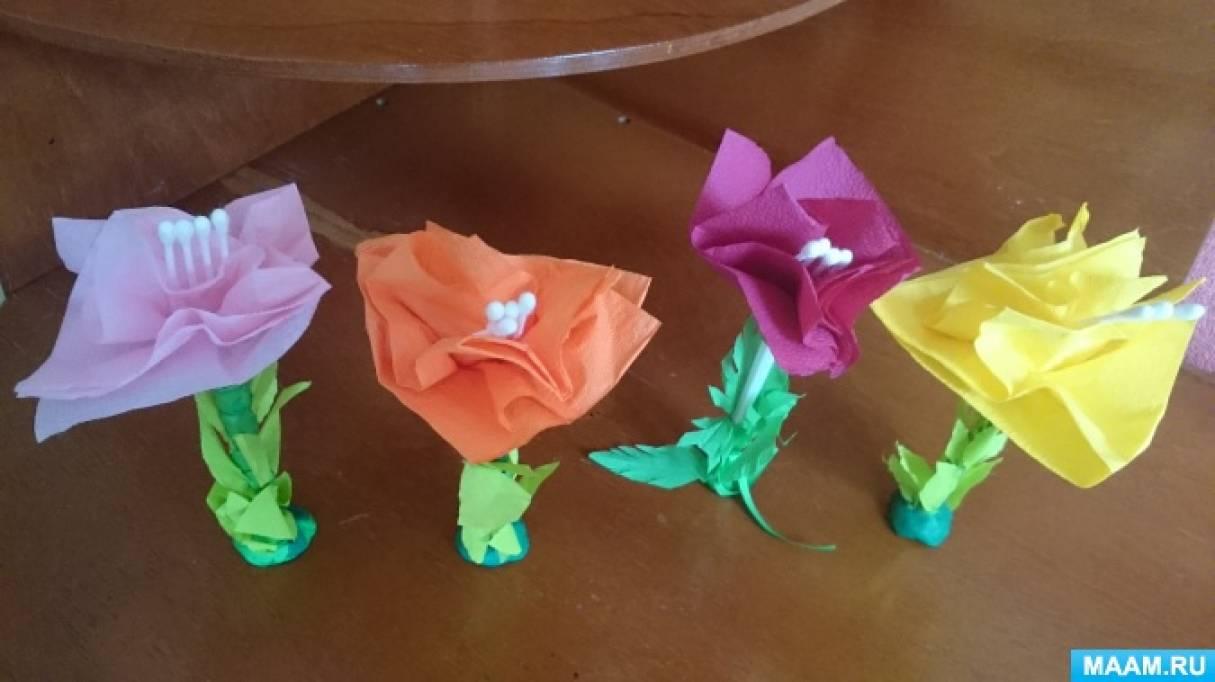 Цветы поделка из подручных материалов 71