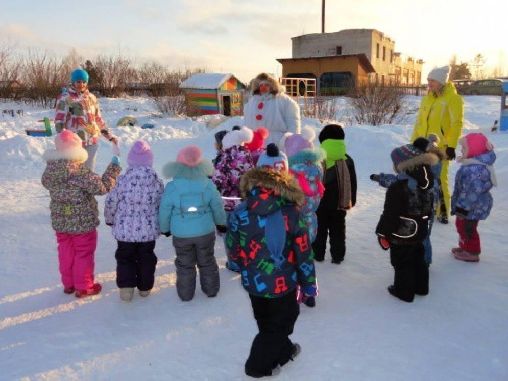 Зимнее развлечение на свежем воздухе «Снеговик в гостях у ребят» (фотоотчёт)