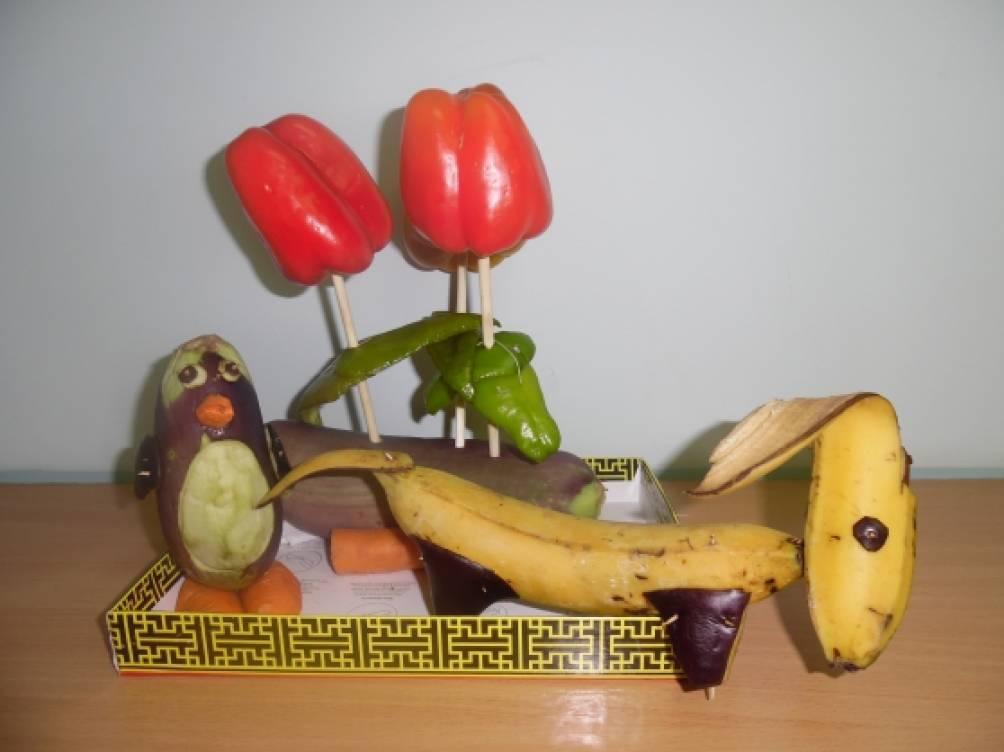 Описание поделок из овощей