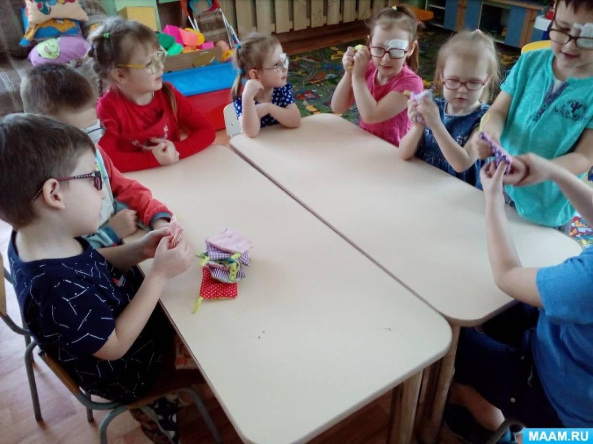Дидактическая развивающая игра для детей 3–6 лет «Тактильные мешочки»