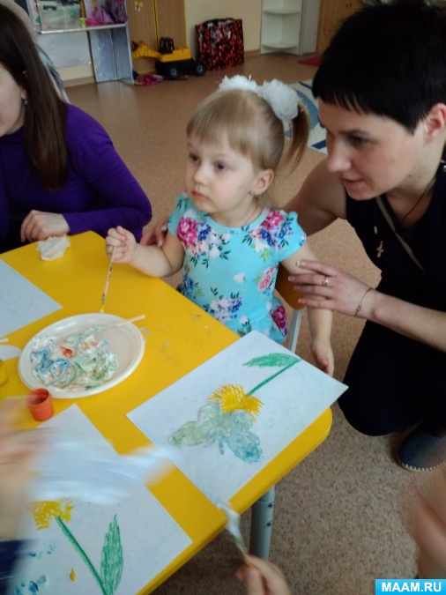 Мастер-класс с родителями второй младшей группы по теме: «Увлекательное рисование с детьми раннего возраста»