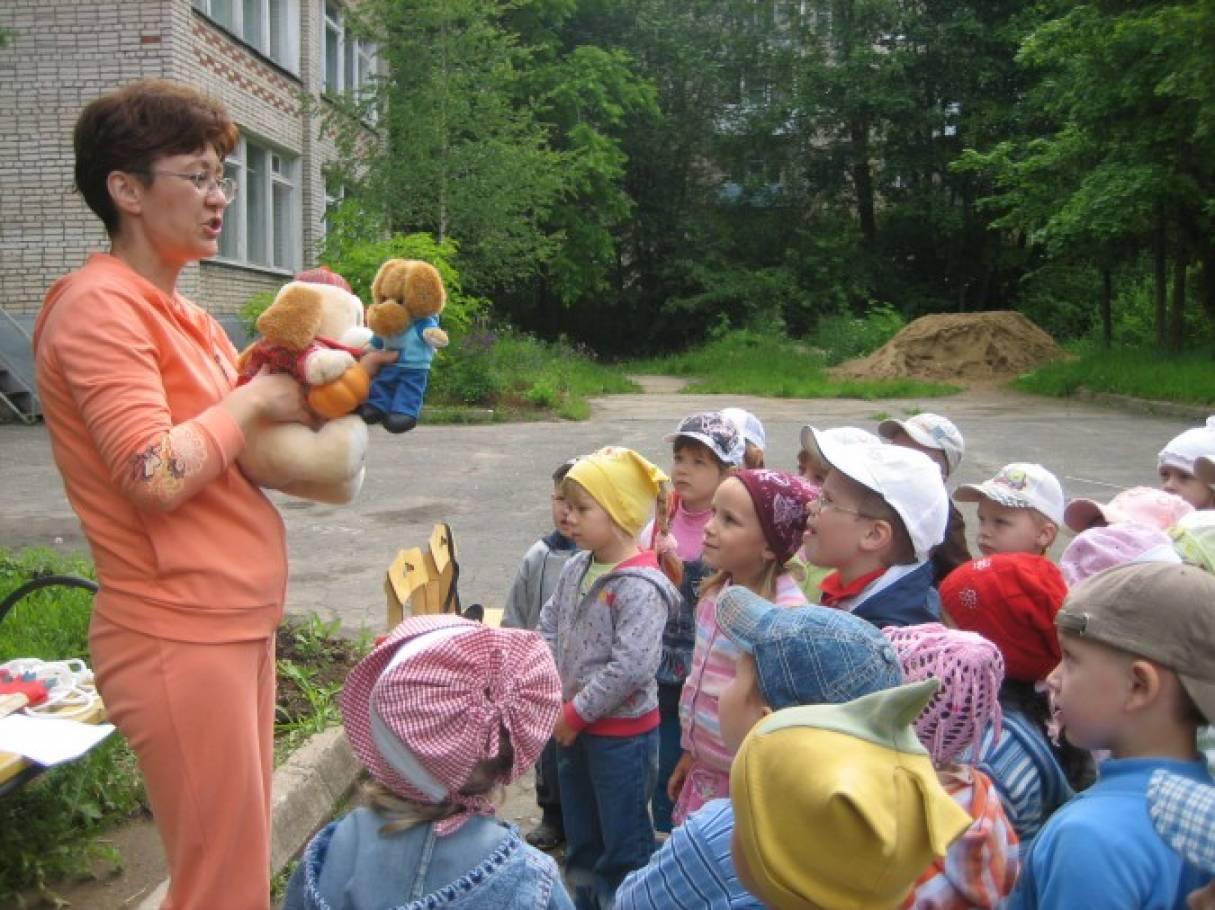 Спортивное развлечение для младших групп на улице «Летние встречи» по стихотворению «Жадина» Э. Мошковской