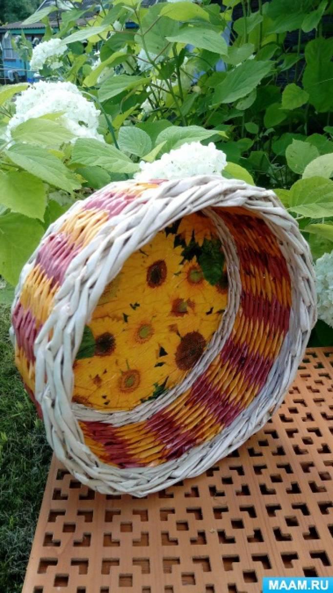 Плетение из бумажной лозы. Идеи для творчества