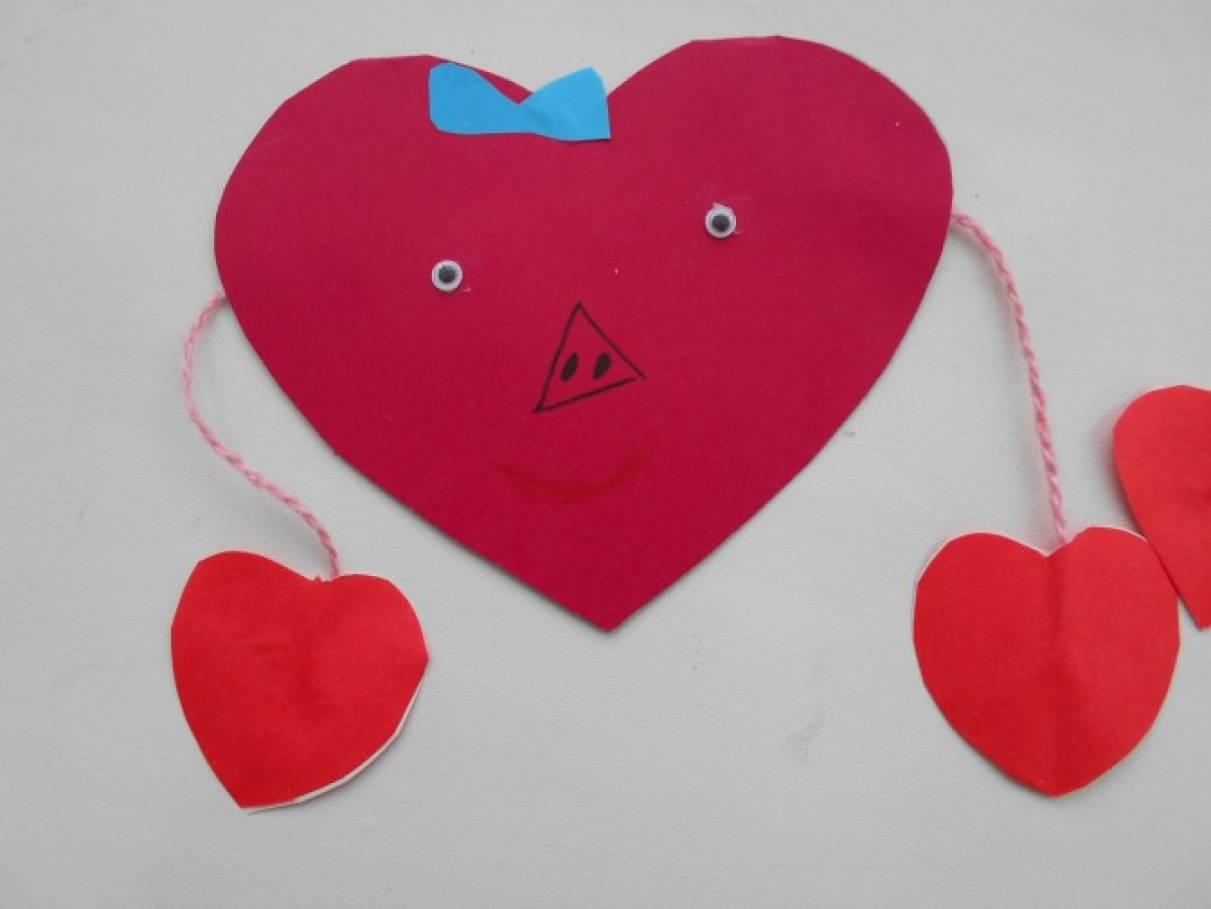 Сердца оригами валентинки открытки