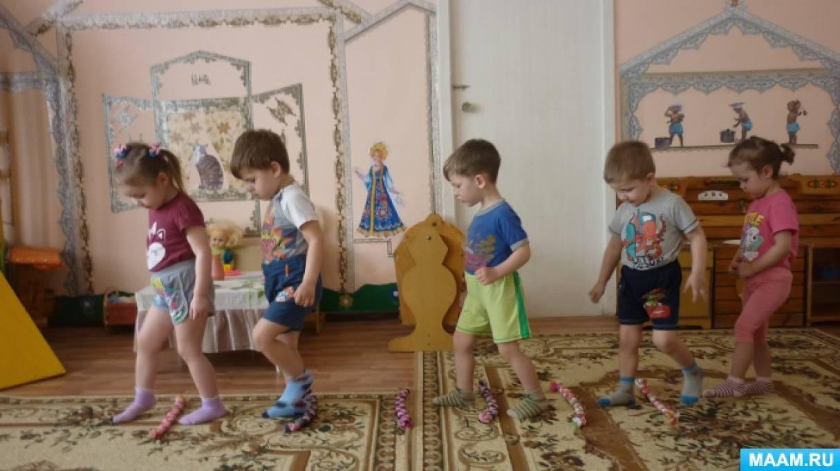 Конспект НОД. Спектакль по физической деятельности «Мишка проснулся» для детей первой младшей группы