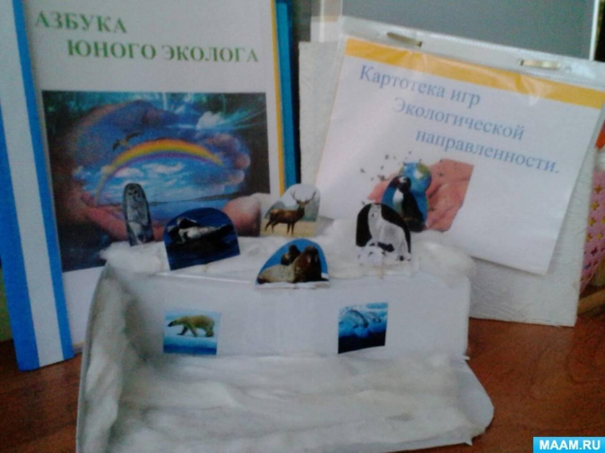 Макеты «Животные Арктики» и «Сухой аквариум» в уголок природы