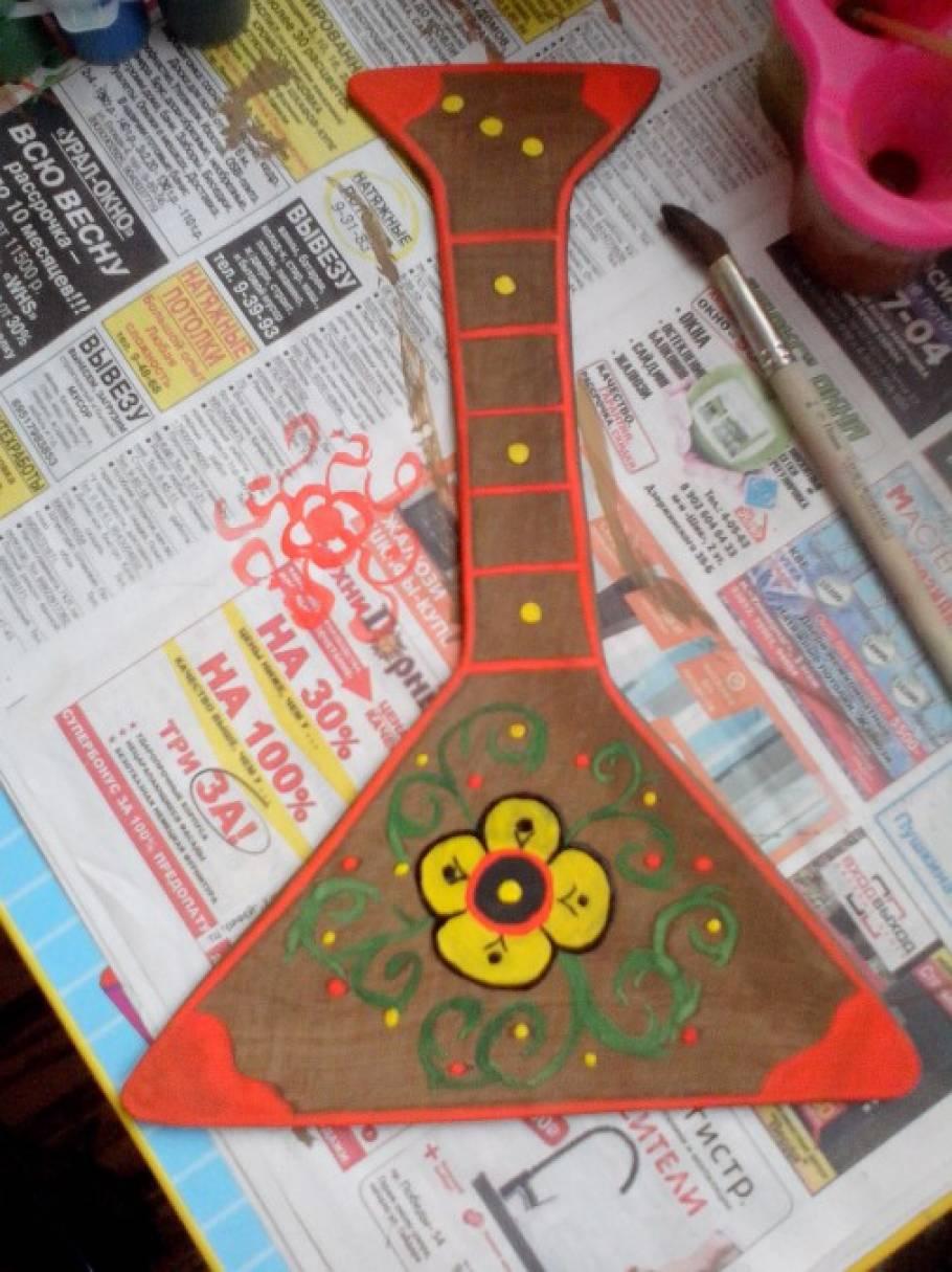 Как раскрасить балалайку своими руками