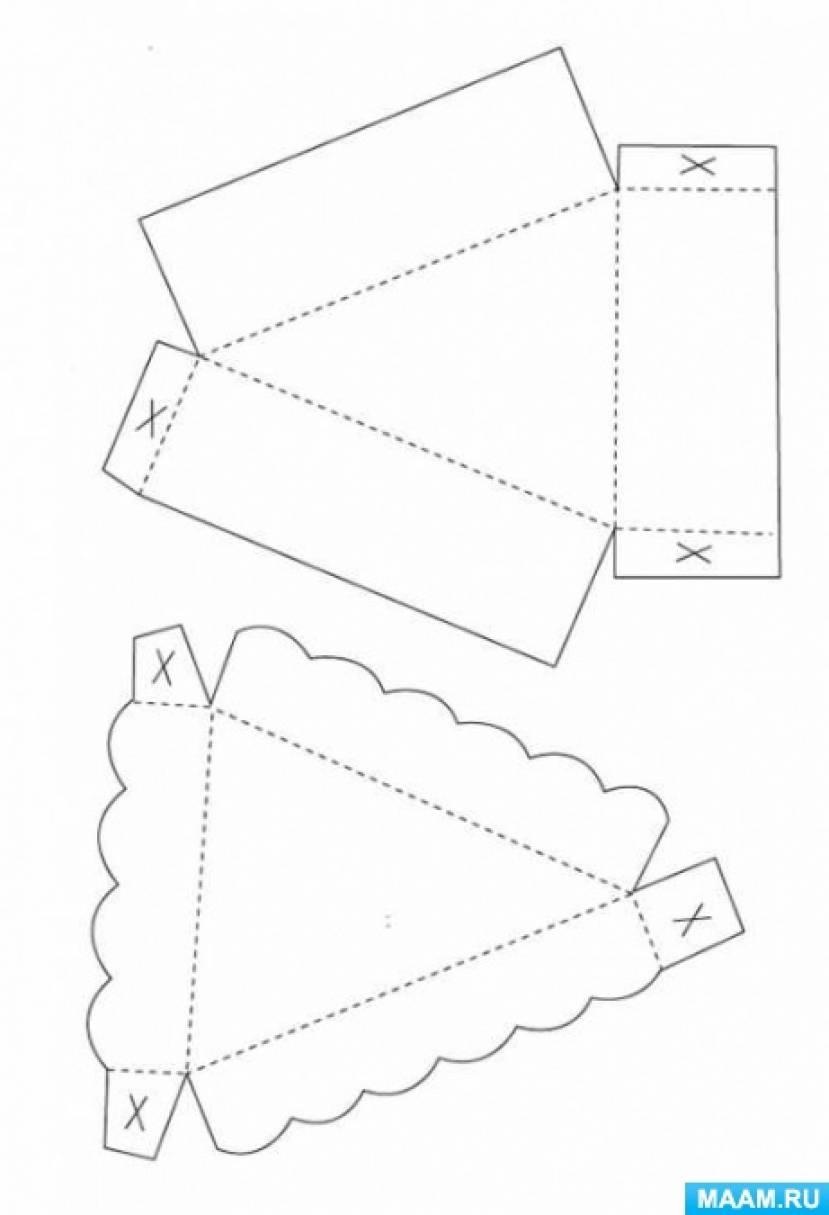 Шаблон бумажные торты своими руками