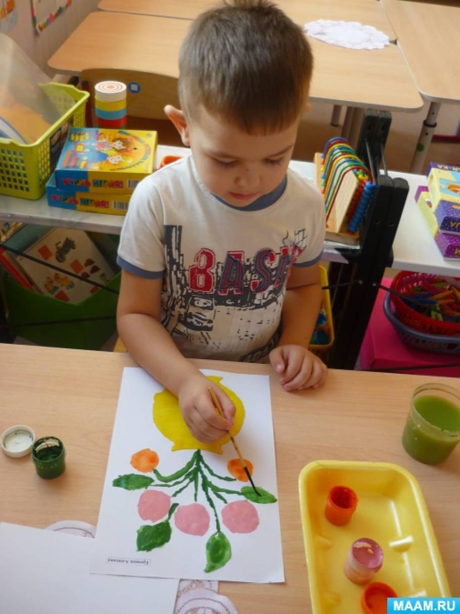 знакомство детей с городецкой росписью подготовительная группа