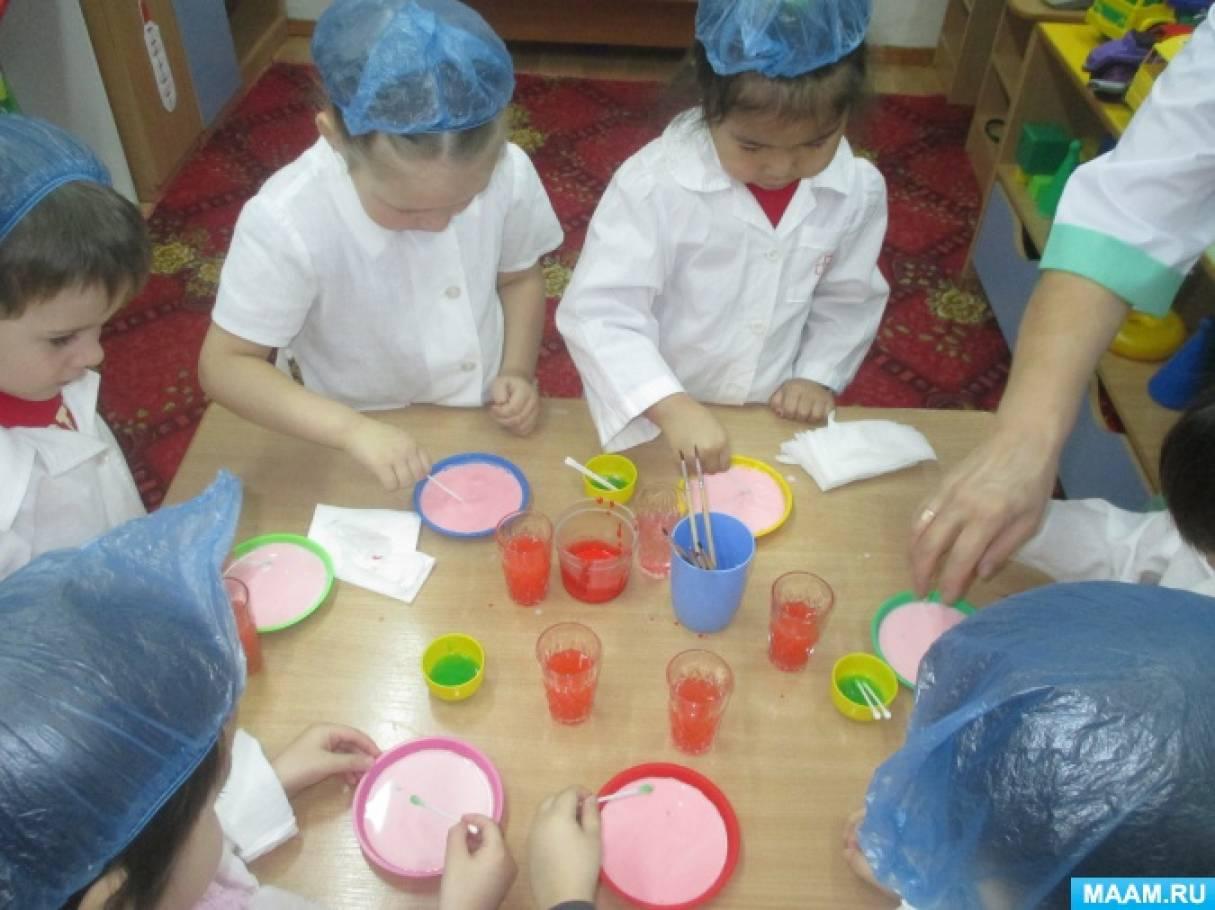 Вести из детской лаборатории по изучению свойства воды в зимних условиях «Ледяные гирлянды для нашей ёлочки»