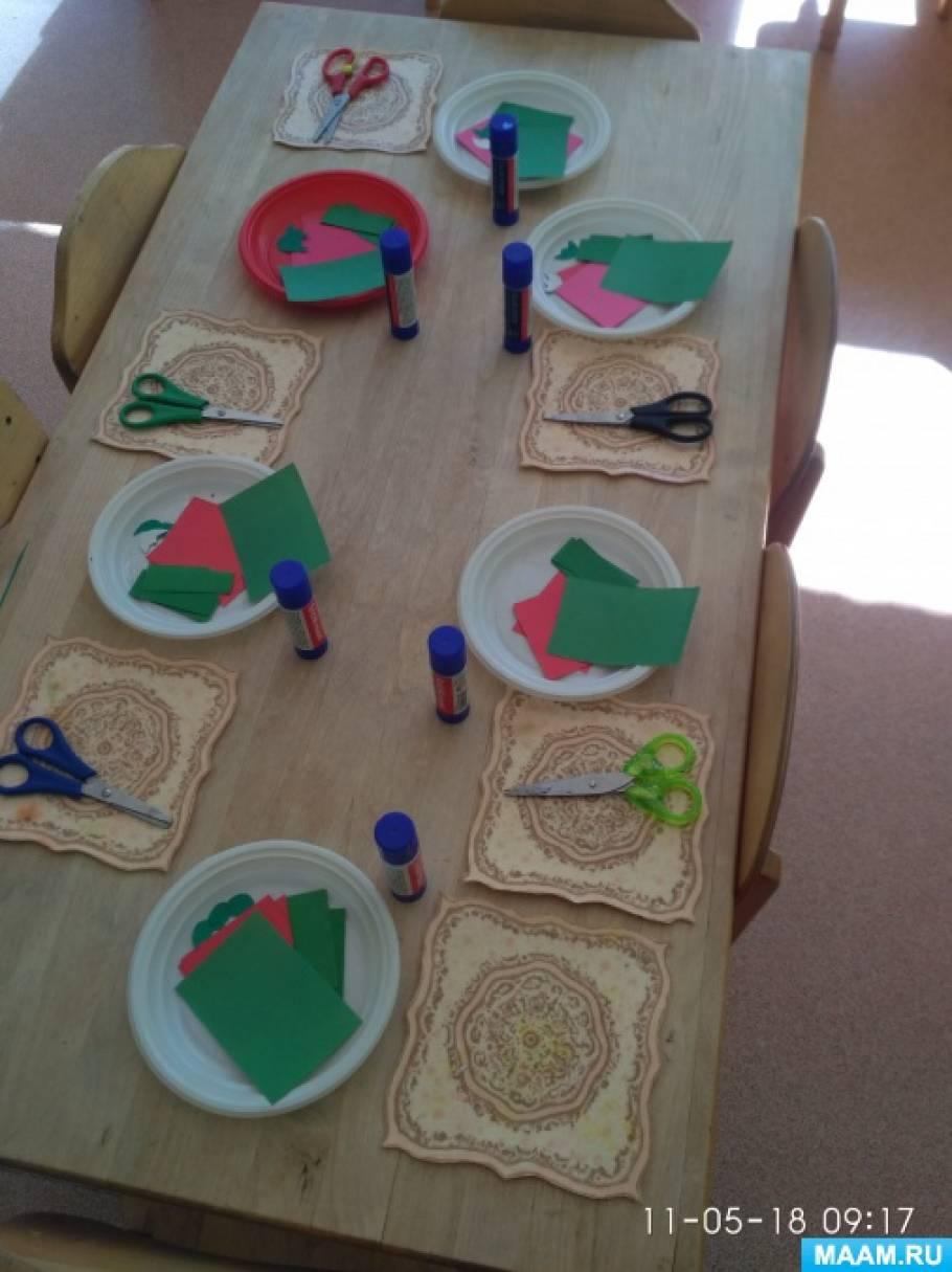 Детский мастер-класс «Открытка к 9 Мая» в средней группе