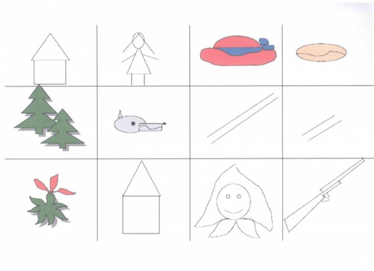 Схемы для рассказывания сказок в детском саду