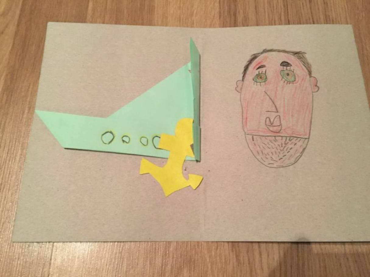 Рисунки на открытку папе своими руками