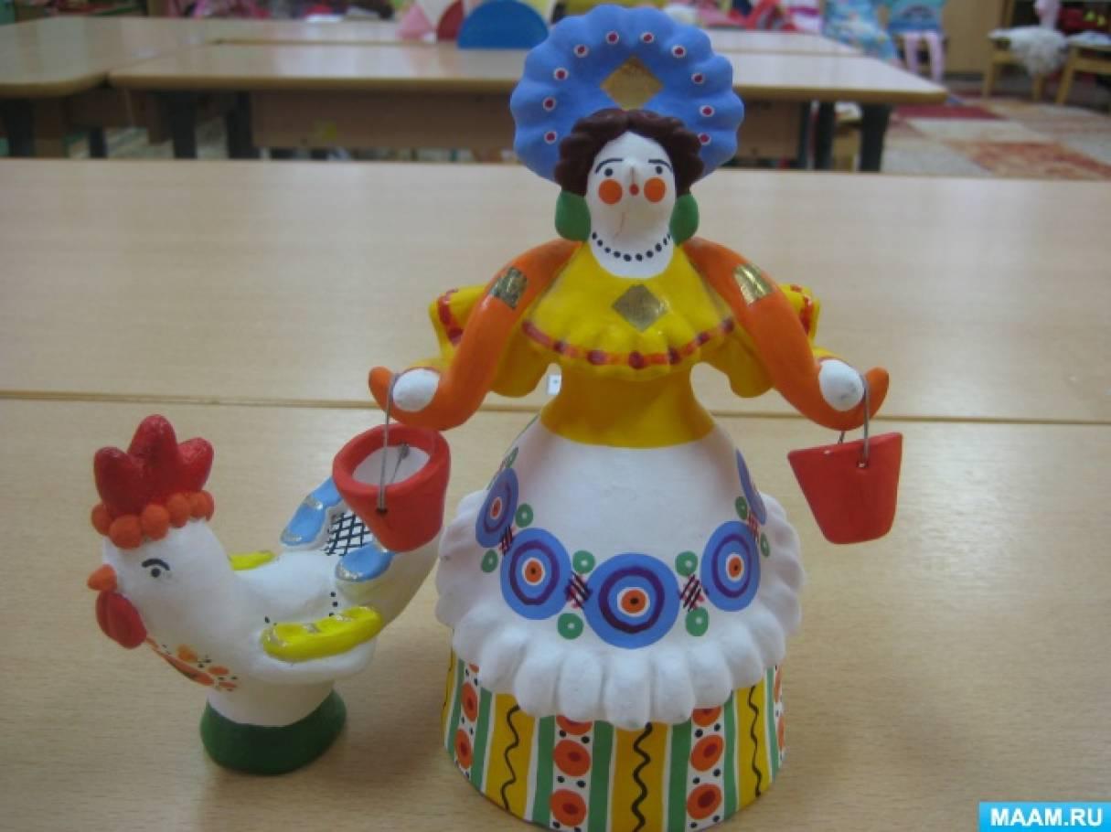 Фотоотчет «Дымковская игрушка из глины»