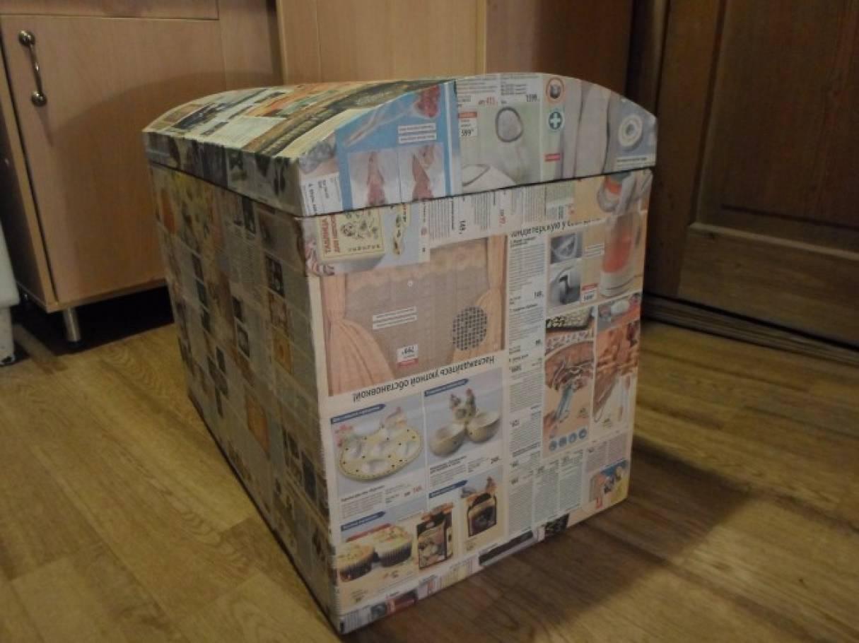 Сундучок из картонной коробки своими руками мастер класс 58