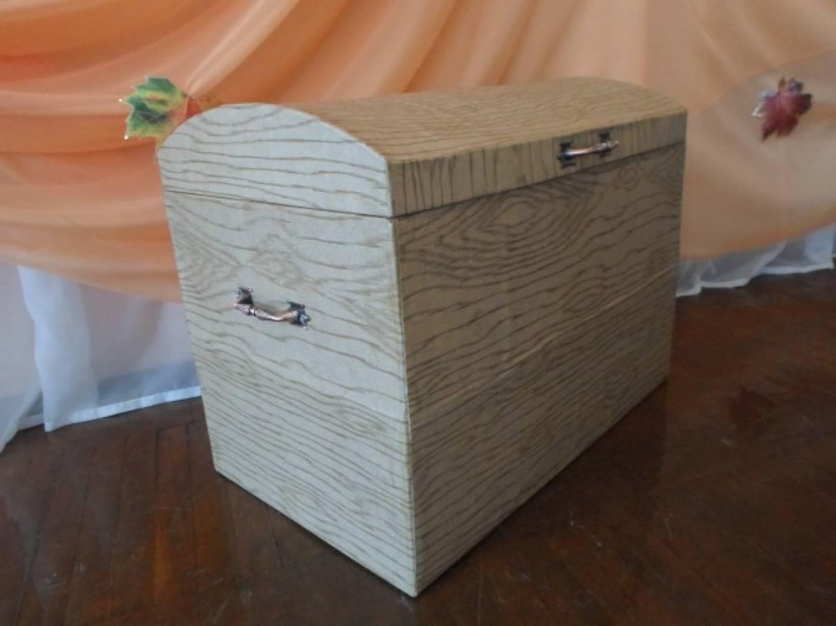 Сундук из картонной коробки. Мастер-класс
