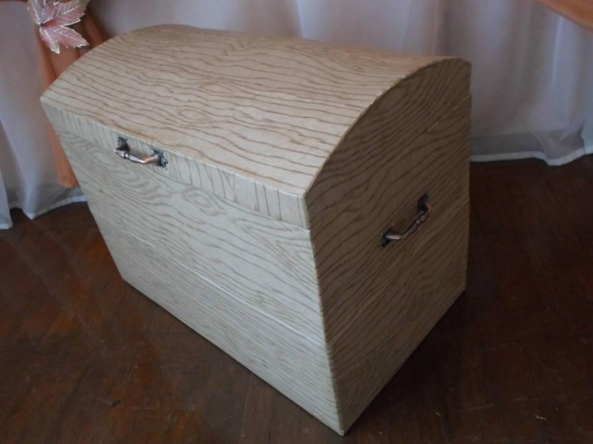 Сундук своими руками из коробки подробная инструкция