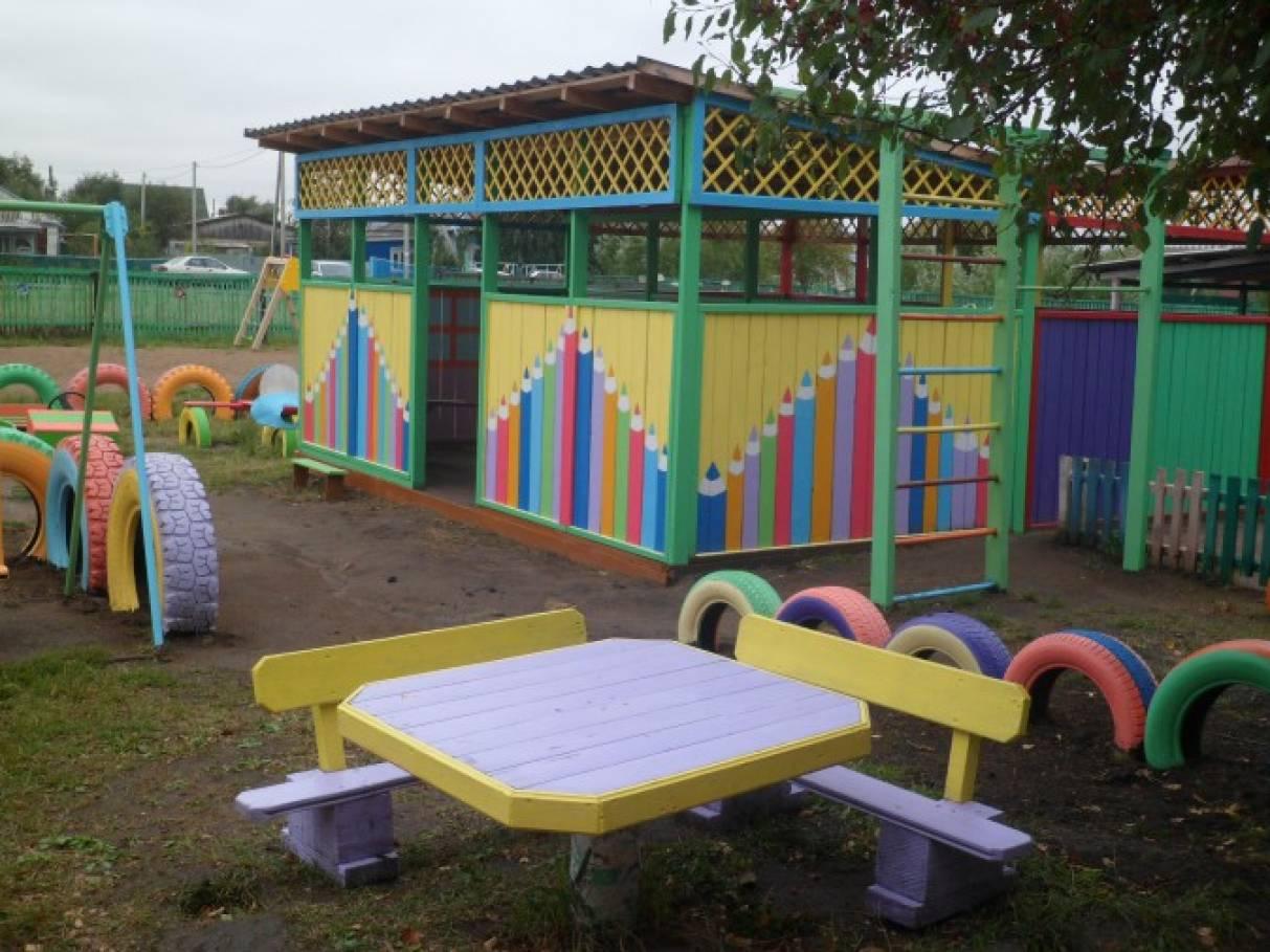 Фото участок детского сада