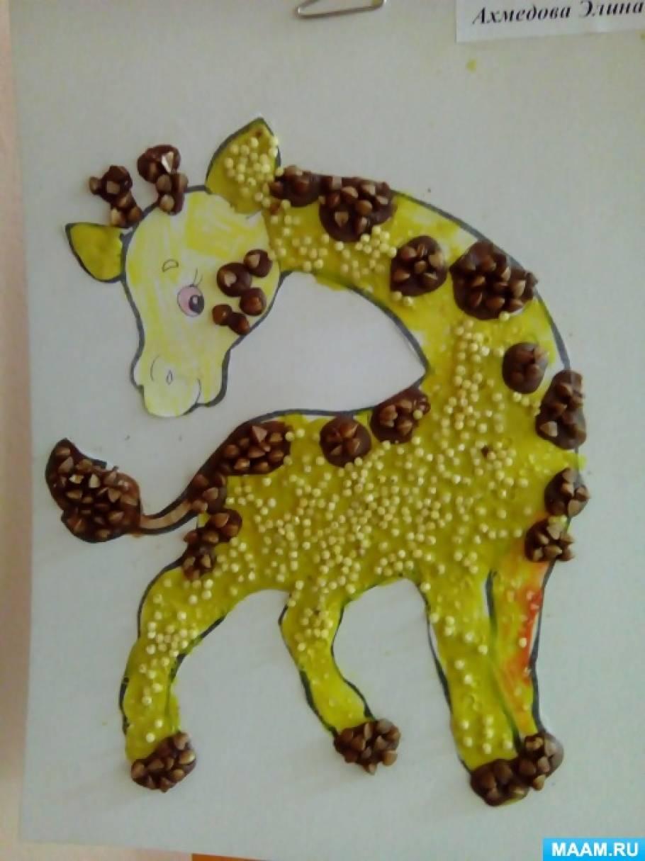 Детский мастер-класс по пластилинографии с применением круп «Пшеничный жирафчик»