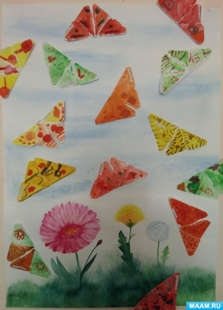 Фотоотчет о творческом занятии «Бабочки»