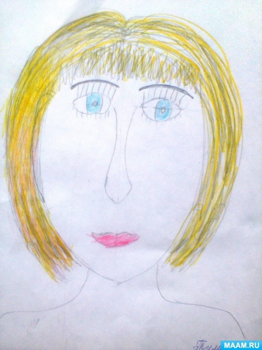 Рисунок для мамы для детей 6 лет